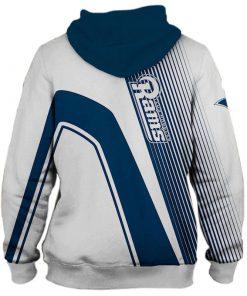 Los Angeles Rams stripes 3d hoodie back