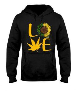 Love Cannabis Sunflower Weed hoodie