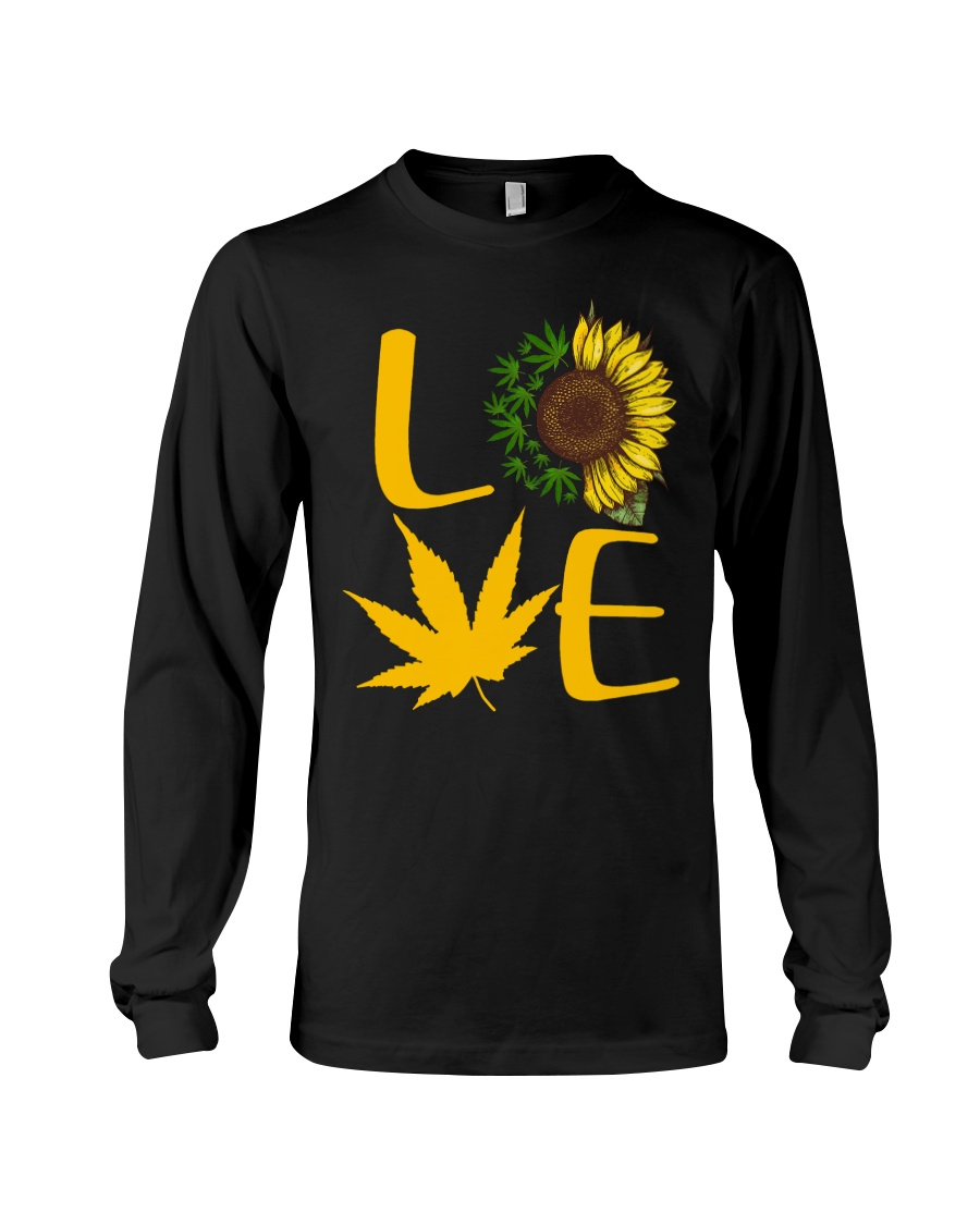 Love Cannabis Sunflower Weed long sleeve
