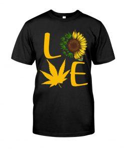 Love Cannabis Sunflower Weed shirt