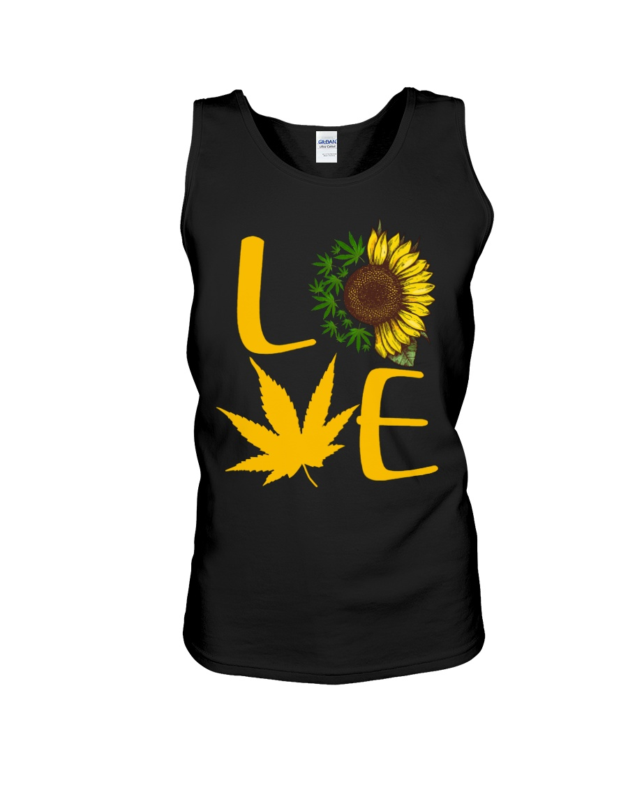 Love Cannabis Sunflower Weed tank top