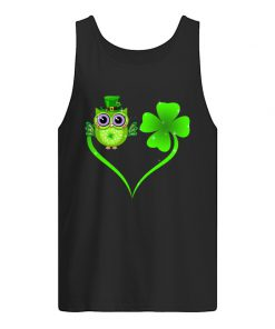 Lucky Owl Shamrock St Patrick's Day tank top