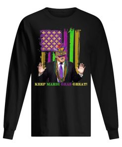 Mardi Gras Costume Keep Mardi Gras Great Trump American long sleeve