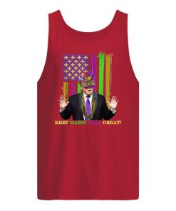 Mardi Gras Costume Keep Mardi Gras Great Trump American tank top