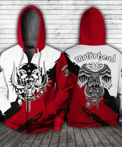Motorhead Logo All over print zip hoodie