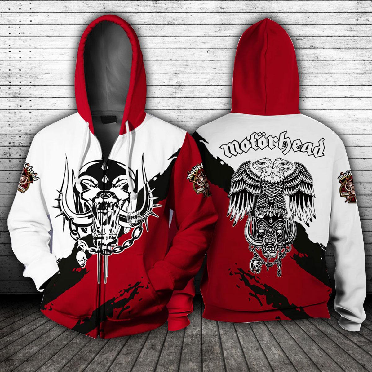 Motorhead Logo All over print zip hoodie