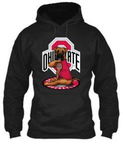 Ohio State Buckeyes Boxer dog tattoo hoodie