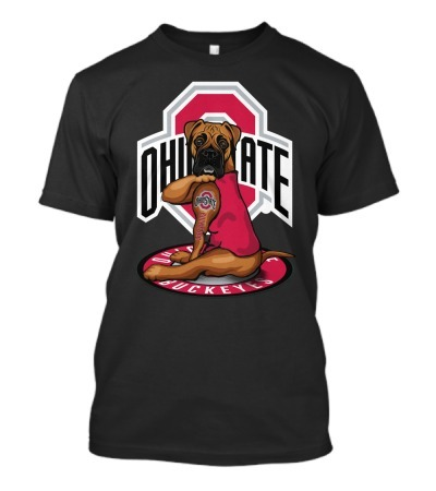 Ohio State Buckeyes Boxer dog tattoo shirt