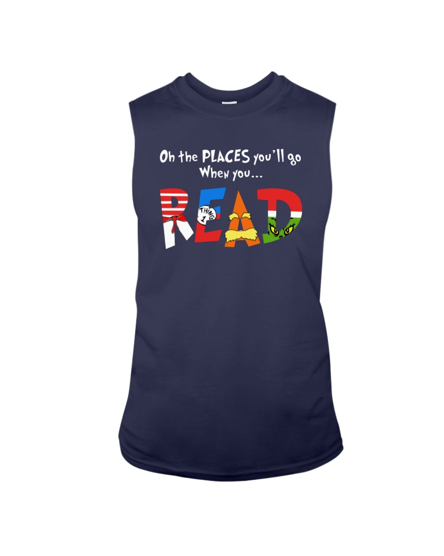 On the places you'll go when you read tank top