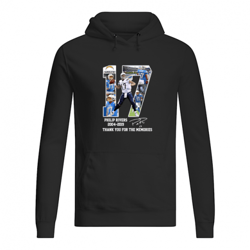 Philip Rivers 17 Thank you for the memories hoodie