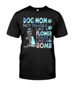 Pitbull Dog mom not fragile like a flower fragile like a bomb shirt