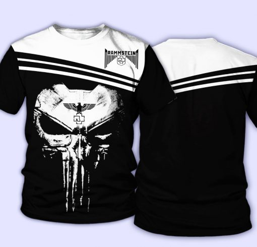 Rammstein Punisher Skull All over print shirt