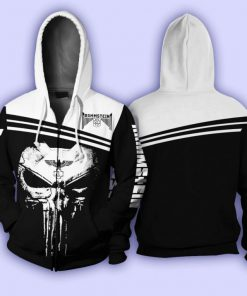 Rammstein Punisher Skull All over print zip hoodie