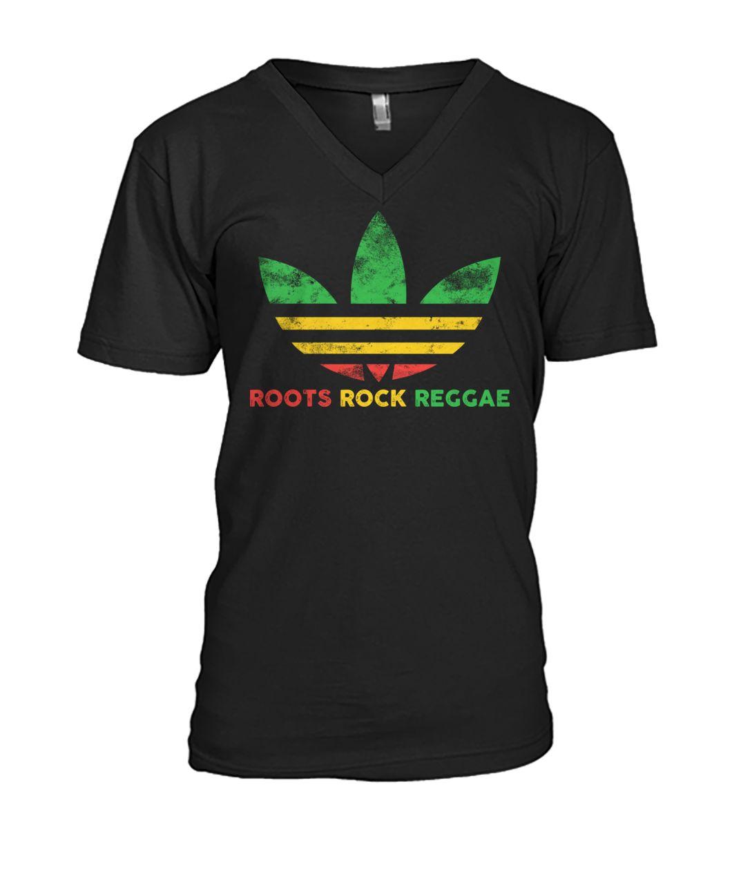 Roots Rock Reggae Adidas vintage v-neck