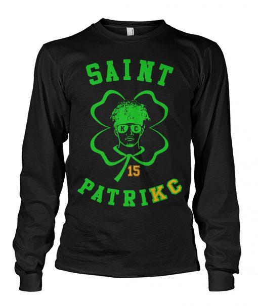 Saint Patrick Mahomes Kansas City Chiefs long sleeve