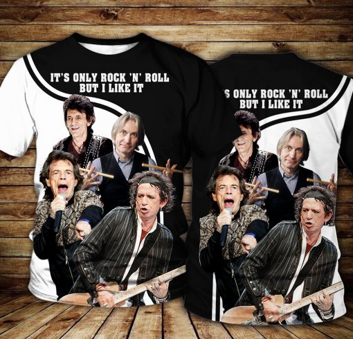 The Rolling Stones It's Only Rock 'n Roll All over print shirt
