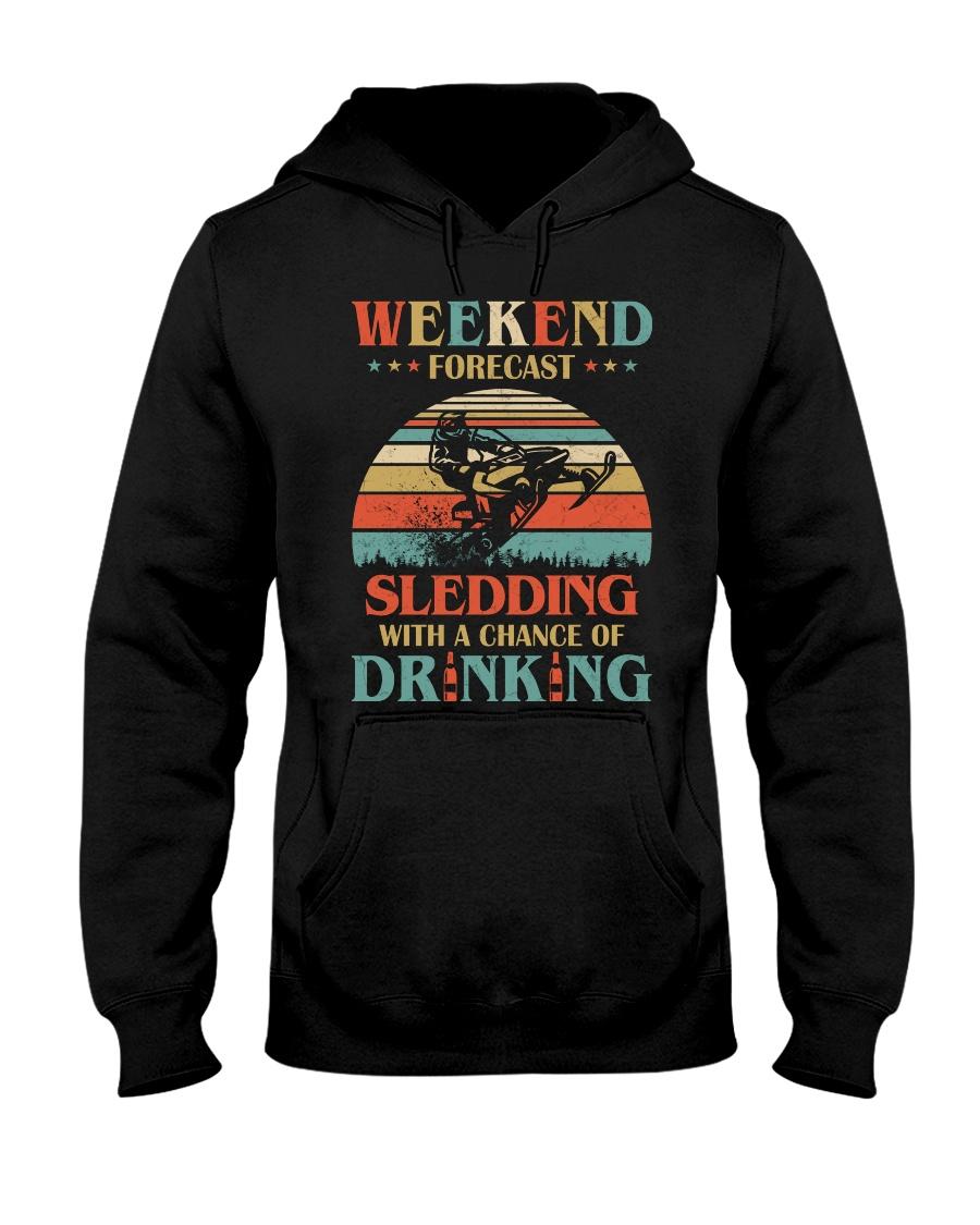 Weekend Forecast Sledding Chance Of Drinking vintage hoodie