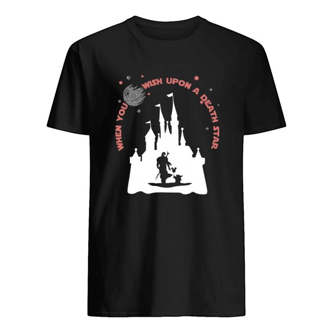When you wish upon a death star Baby Yoda Disney t-shirt