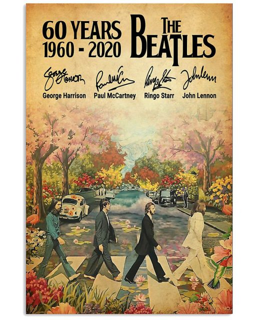 60 Years of the Beatles signatures poster 1