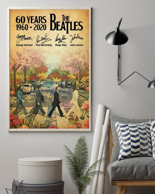 60 Years of the Beatles signatures poster 2
