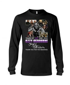72 Years of Black Sabbath Ozzy Osbourne long sleeved