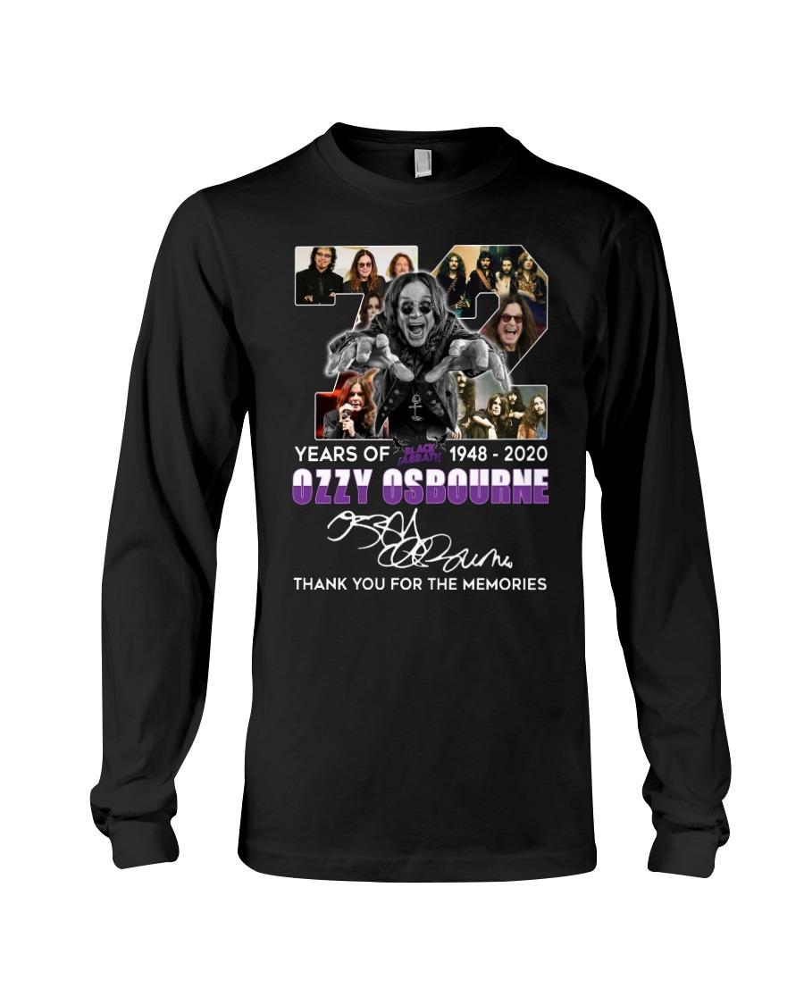 72 Years of Black Sabbath Ozzy Osbourne long sleeved