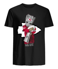 Baby Groot Hug Kansas City Chiefs Super Bowl 2020 shirt