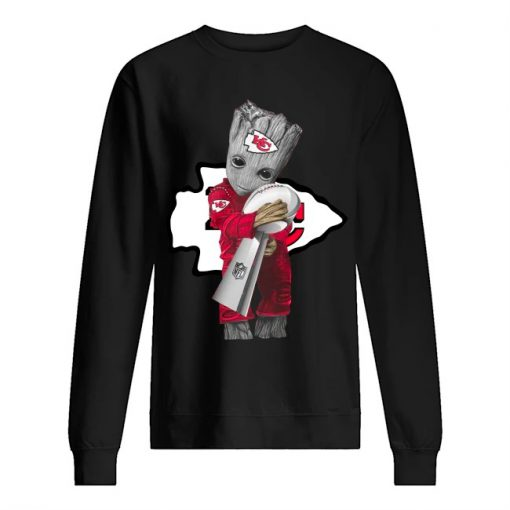 Baby Groot Hug Kansas City Chiefs Super Bowl 2020 sweatshirt
