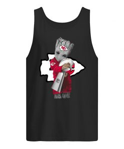 Baby Groot Hug Kansas City Chiefs Super Bowl 2020 tank top