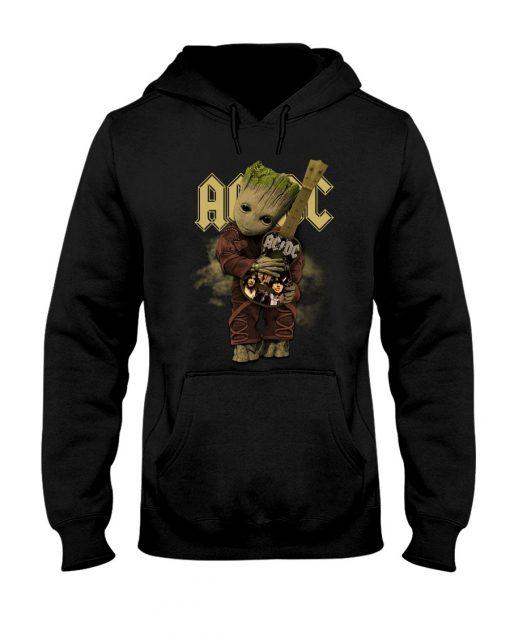 Baby Groot hug AC-DC Hoodie