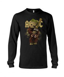 Baby Groot hug AC-DC Long sleeve