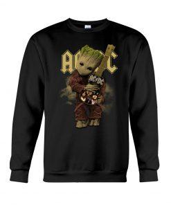 Baby Groot hug AC-DC Sweatshirt