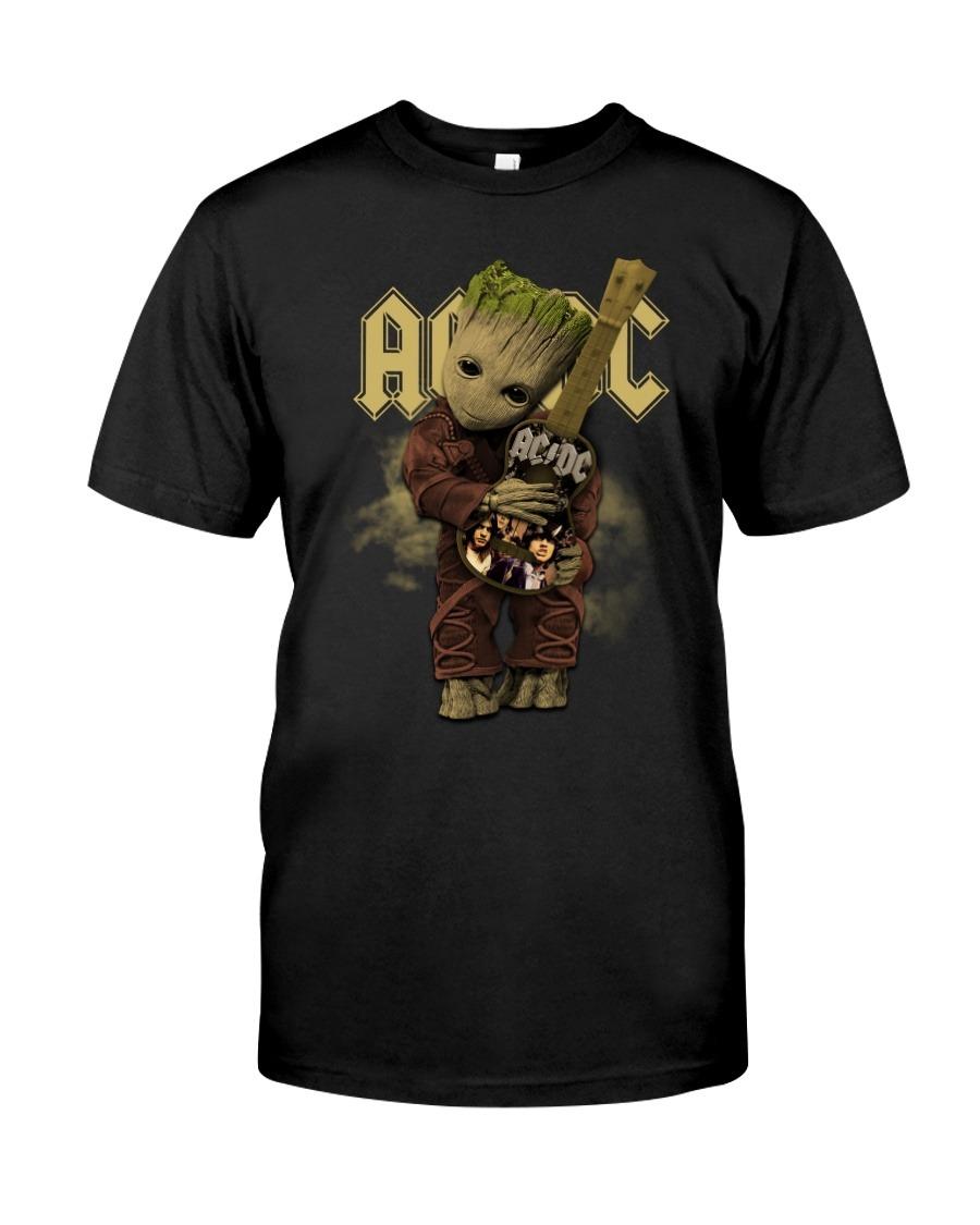 Baby Groot hug AC-DC T-shirt