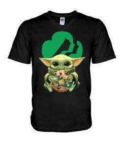 Baby Yoda Girl Scout V-neck