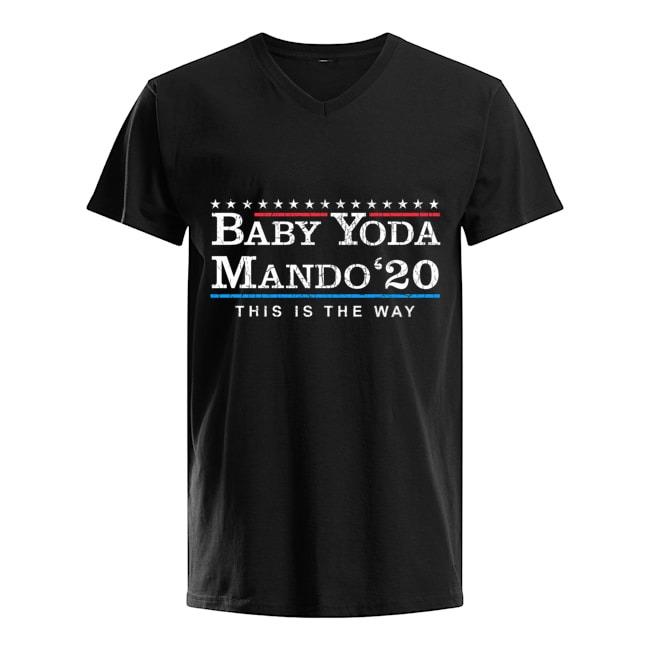 Baby Yoda Mando '20 This Is The Way The Mandalorian V-neck