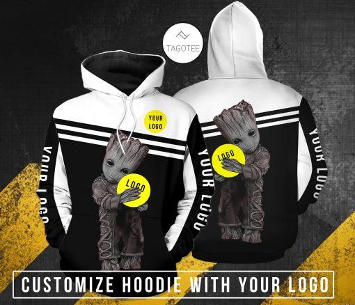 Baby groot hug custom log hoodie