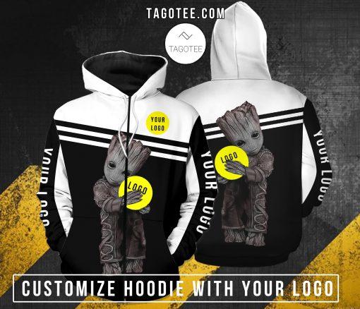 Baby groot hug custom log hoodie Zip hoodie