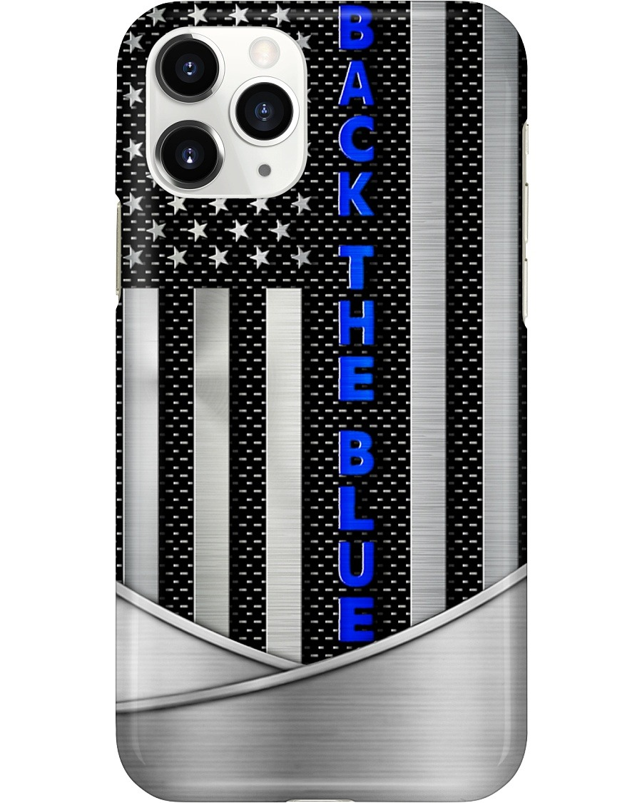 Back the blue American flag as metal phone case 11