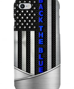 Back the blue American flag as metal phone case 7
