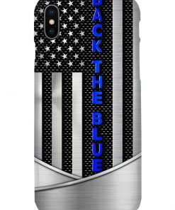 Back the blue American flag as metal phone case x