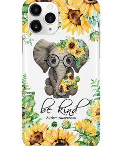Be kind Autism Awareness Elephant Sunflower phone case 11