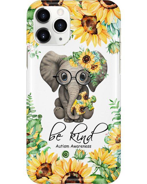 Be kind Autism Awareness Elephant Sunflower phone case 11