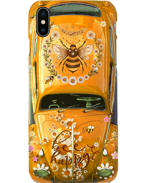 Bee Happy Daisy Volkswagen Beetle VW phone case 11