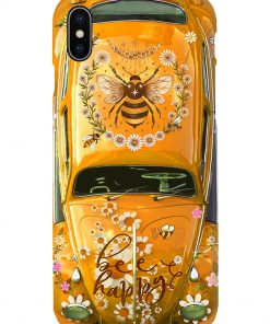 Bee Happy Daisy Volkswagen Beetle VW phone case 7