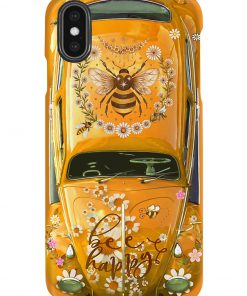 Bee Happy Daisy Volkswagen Beetle VW phone case x