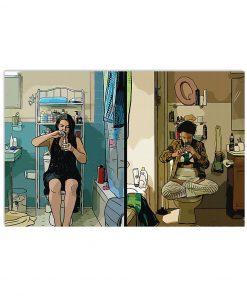 Broad City Abbi and Ilana bathroom scene poster