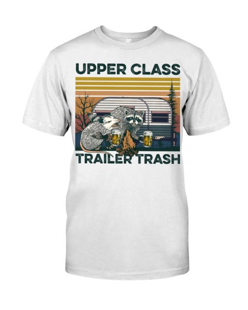 Camping Upper Class Trailer Trash vintage T-shirt