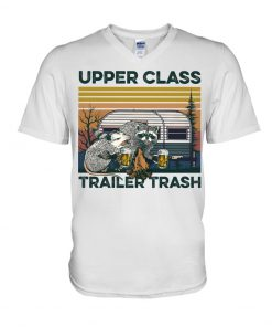 Camping Upper Class Trailer Trash vintage V-neck