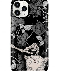 Cats And Skull Black Rose Tattoo phone case 11