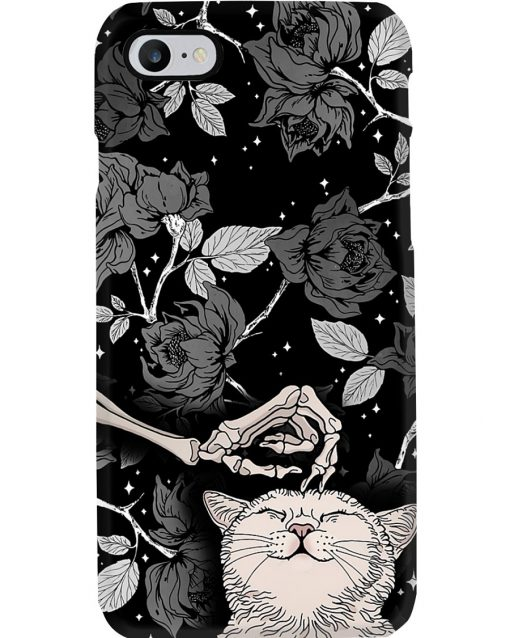 Cats And Skull Black Rose Tattoo phone case 7